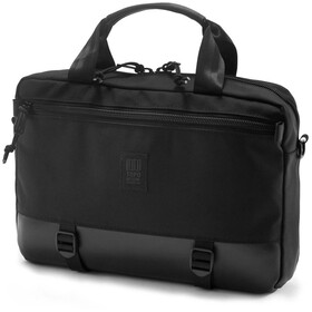 Topo Designs Commuter Briefcase ballistic black/black leather